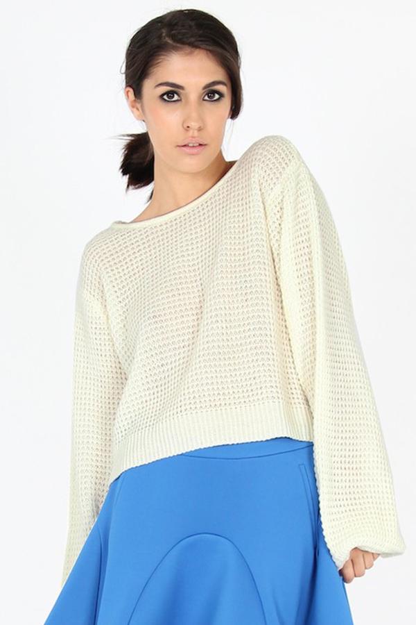 Pink Stitch Clover Sweater