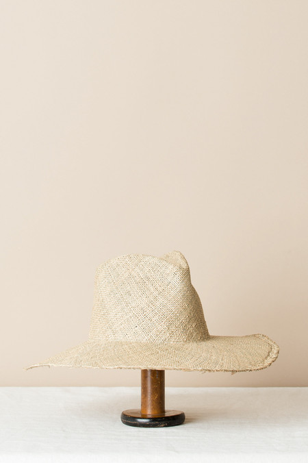 Clyde Wide Brim Pinch Panama Hat In Seagrass