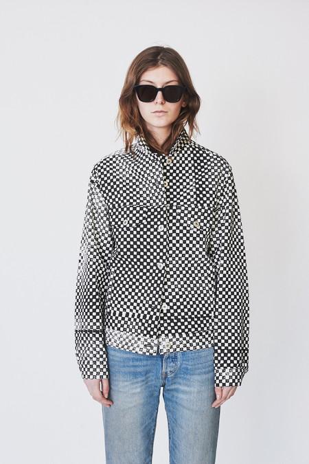 Assembly New York Checkered Denim Oversized Jacket