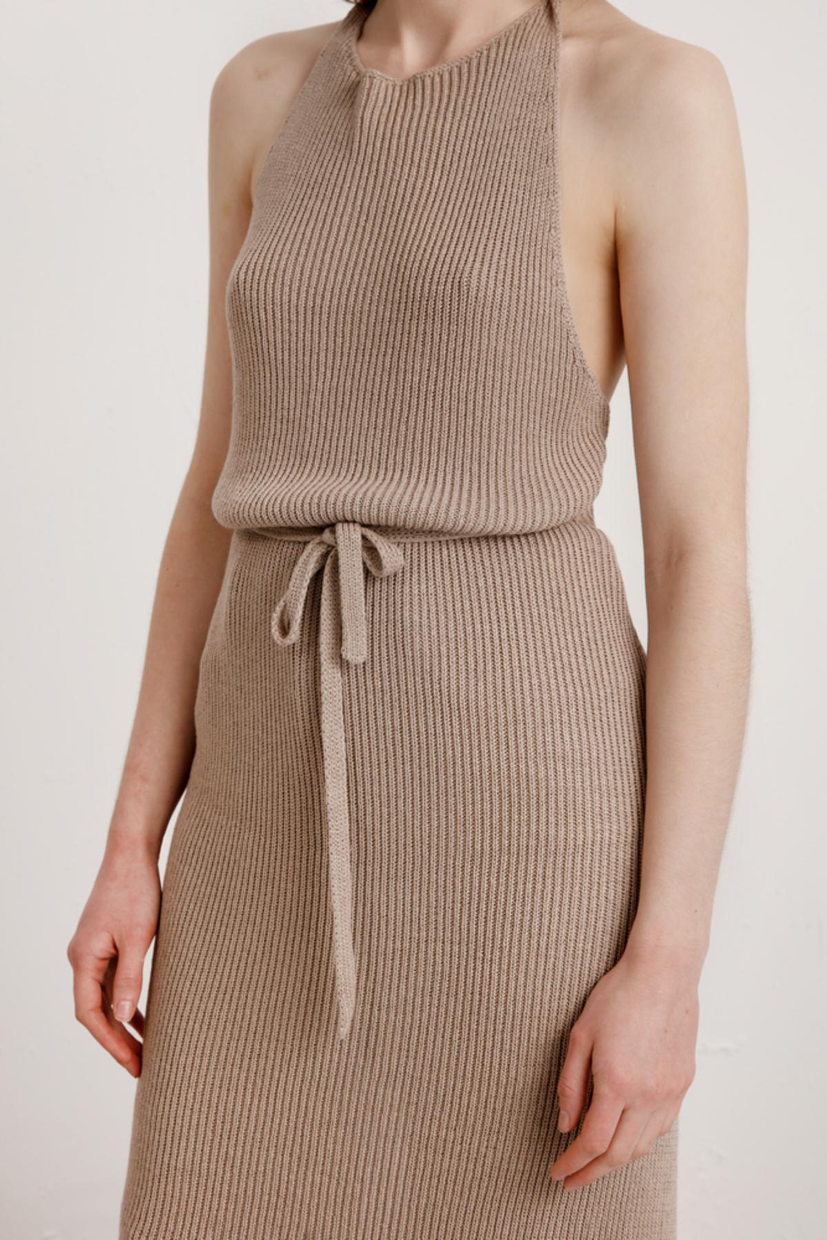 c1b0c84969f Baserange Knit Apron Dress - Khaki