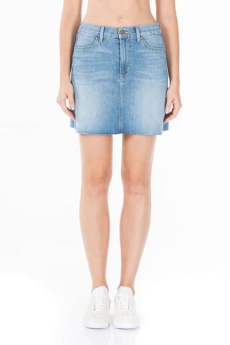 Fidelity Denim Katie Denim Skirt in Rising Sun