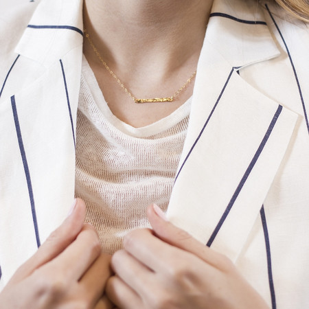 Katye Landry Mini Bar Necklace - Yellow Gold Fill