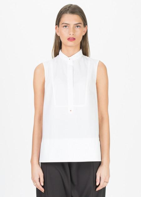 SCHAI Sleeveless Tux Shirt
