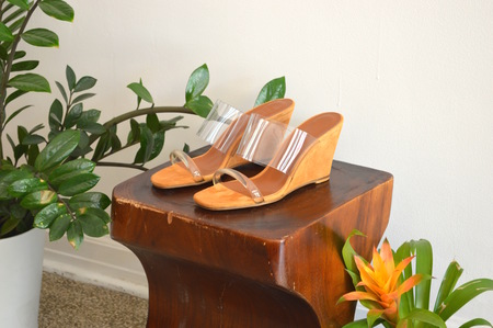 Maryam Nassir Zadeh Olympia Suede Wedges in Whiskey