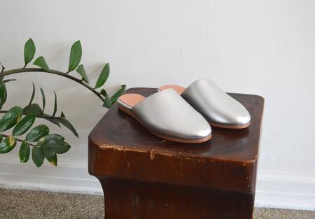 Charlotte Stone Drea Silver Slide Sandal