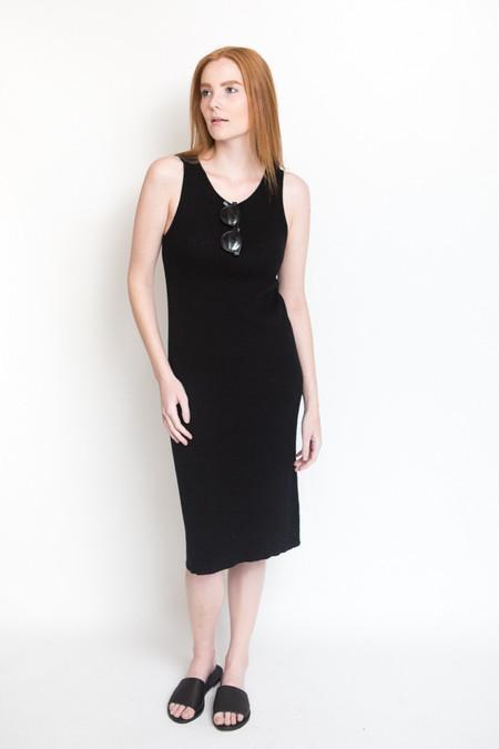 Ali Golden Ribbed Dress - Black