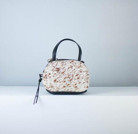 Eleven Thirty Katie Large Shoulder Bag: Salt + Pepper : Brown + White