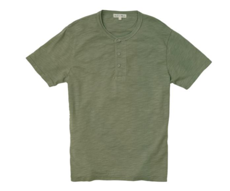 Alex Mill Short Sleeve Henley New Olive