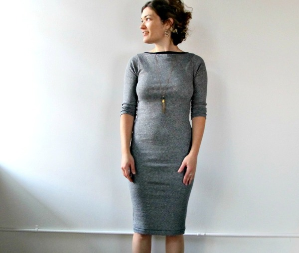 Jude Dress in Black and White Stripe by Curator