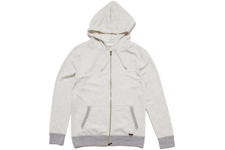 Faherty Brand ATHLETIC GREY ZIP HOOD