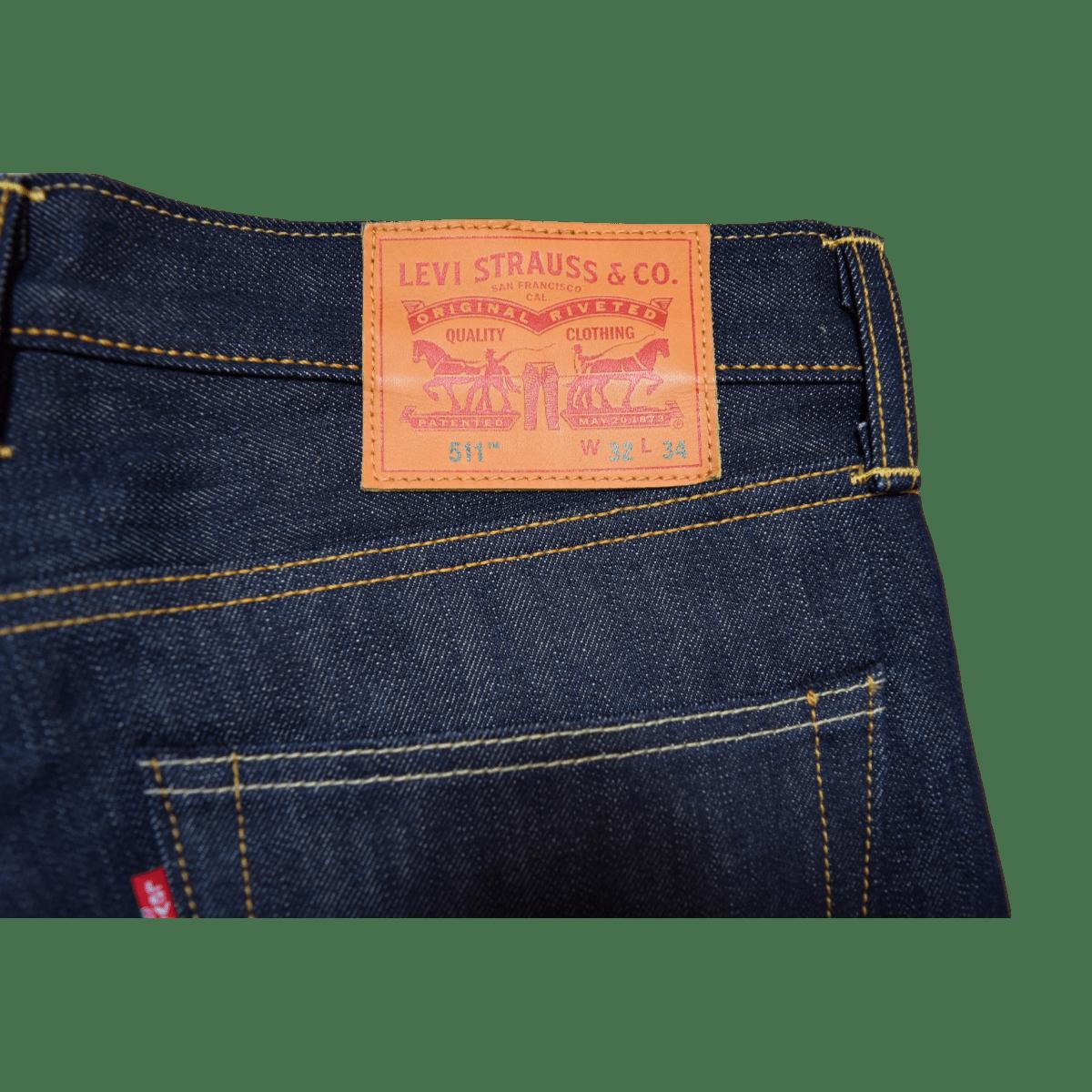 d0689189 Levis 511™ Slim Fit Jeans Raw Selvedge   Garmentory