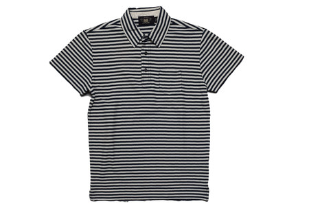 RRL Crepe Stripe Polo