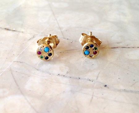 Scosha Lolli Stud Earrings with Mixed Stones
