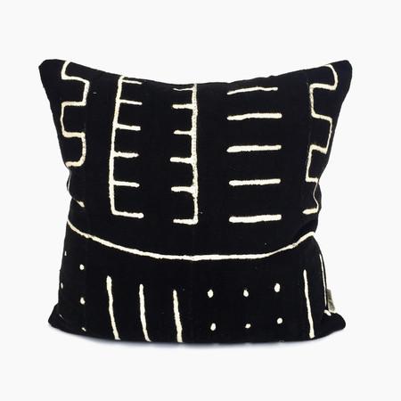 Bryar Wolf Black Mudcloth Pillow