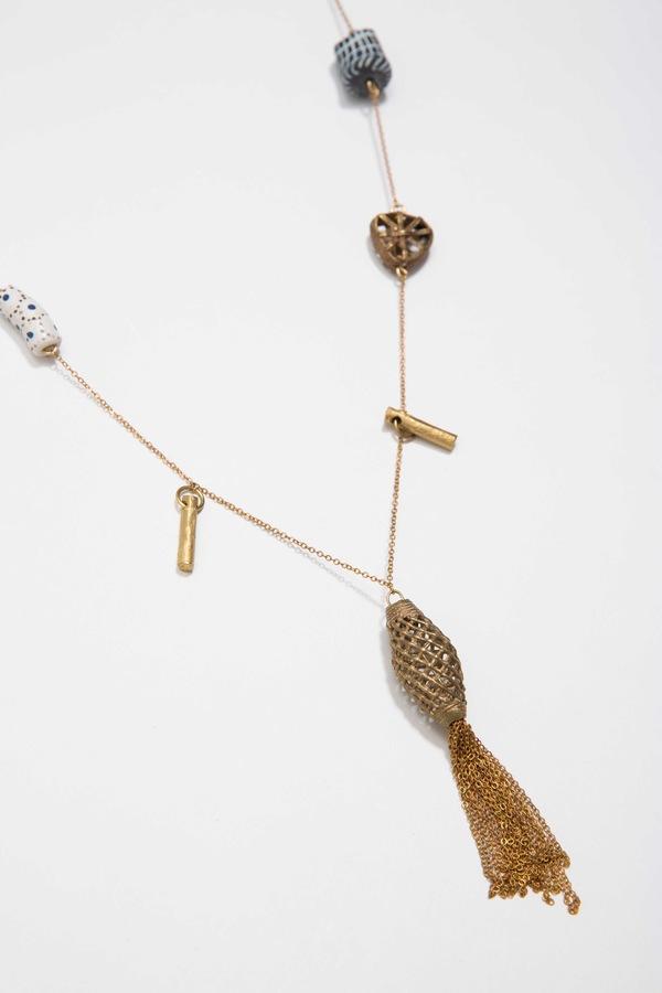 Osei-Duro Bead & Chain Necklace