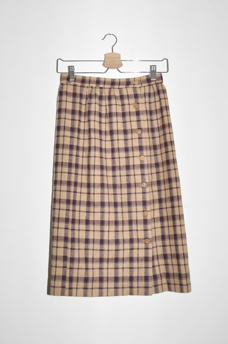 Clan of Cro Vintage / Plaid Button Up Skirt