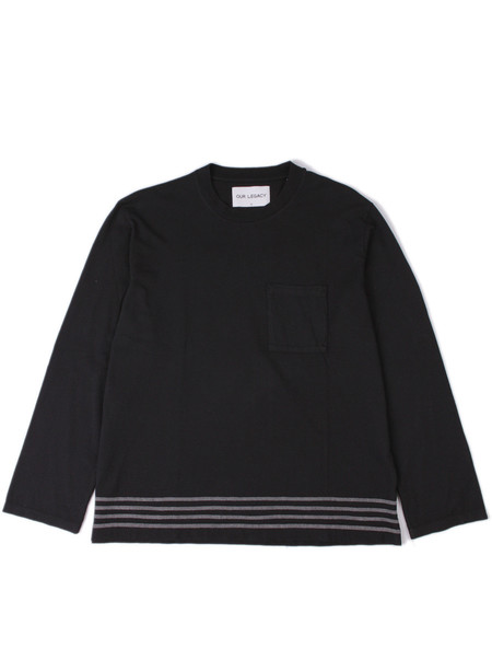 Our Legacy Box Longsleeve Black Embroidered Stripes