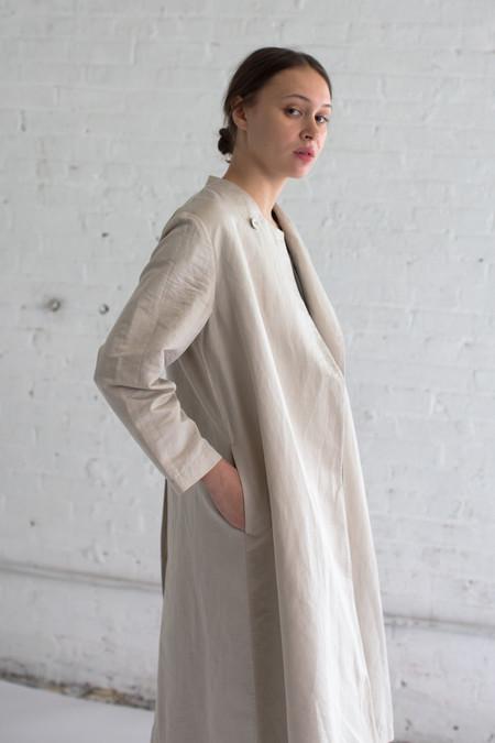 Cosmic Wonder Cotton Linen Coat in Beige