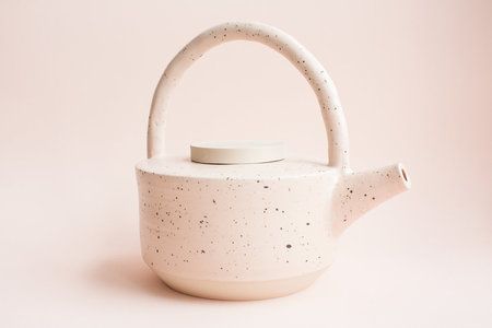 YYY Peach Speckled Teapot
