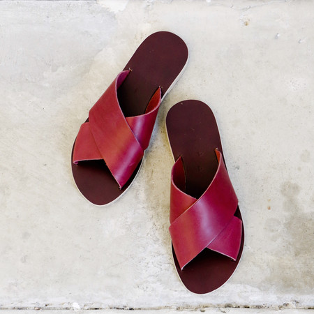 Kyma Chios Sandals in Bordeaux
