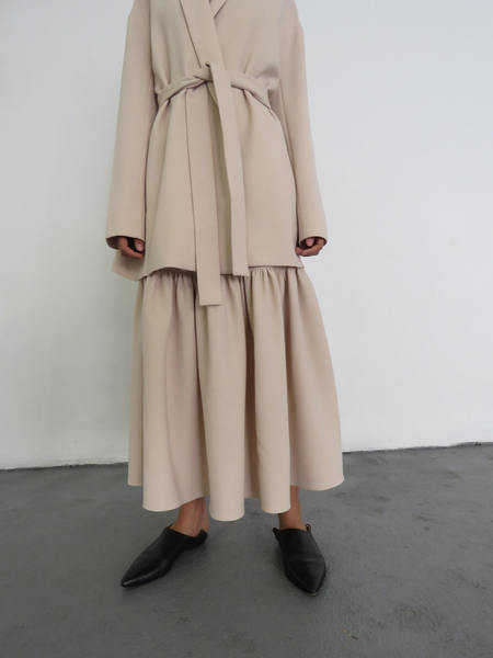 RYAN ROCHE SS16 FLARED FULL SKIRT 9105 - NUDE