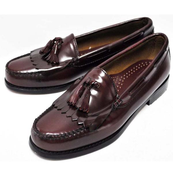 Bass Burgundy Layton Loafers