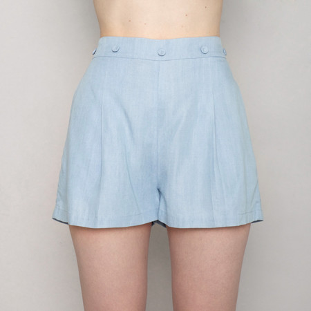 7115 by Szeki Summer Romper Short - Light Indigo