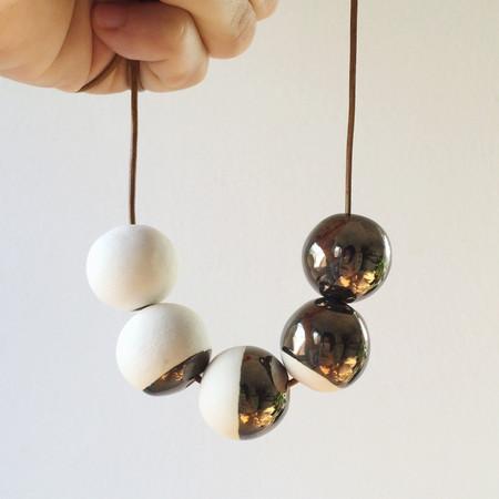 Shayna Stevenson Metallic Moon Phase Necklace