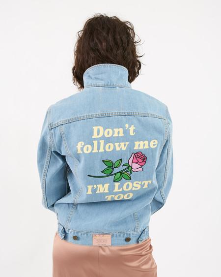 Yeah Bunny Denim Jacket Rose
