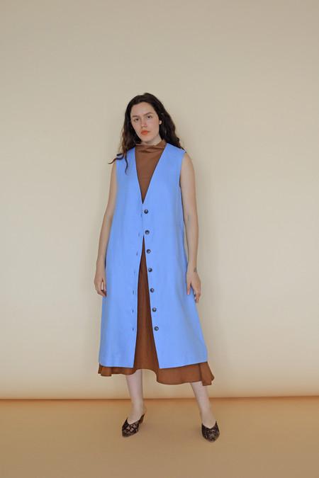 Wolcott : Takemoto Linen Yukio Vest in Evian