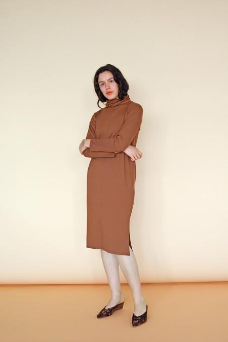 Wolcott : Takemoto Palmer Turtleneck Dress in Penny