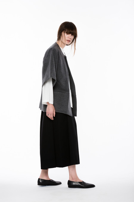 Wolcott : Takemoto Wool Yoshinori Jacket in Charcoal