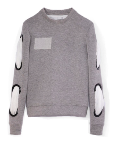 WILLIAM OKPO LENNY BOND SWEATSHIRT - HEATHER GREY