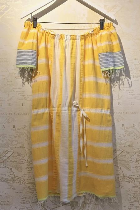 Lemlem 'Luna' Off the Shoulder Multi Stripe Dress
