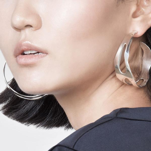 Shahla Karimi Paris Lake Large Hoop Earrings