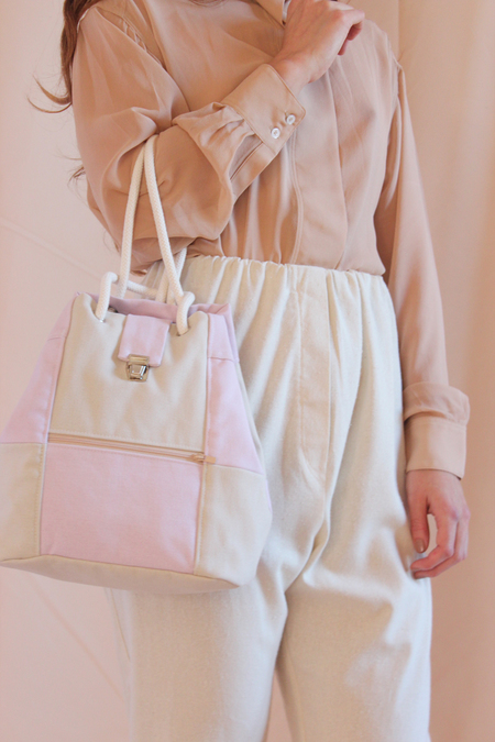 Emma Pardos Lilac And Beige Color Backpack