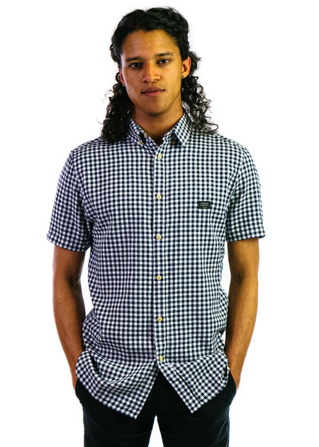Barney Cools Button Up SS - Gingham