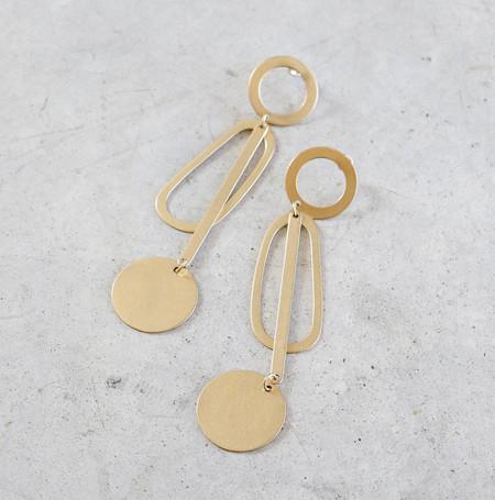 Modern Weaving Pendulum Earrings in Brass