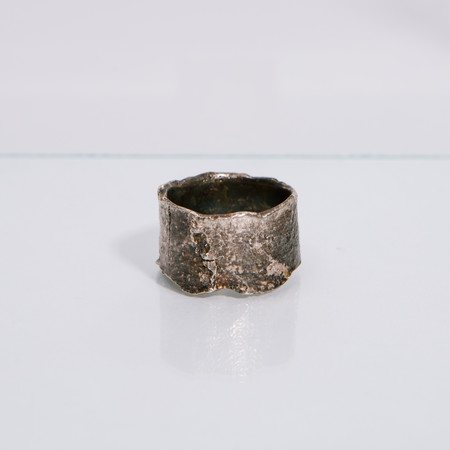 Alice Waese Silver Cut Bark Ring