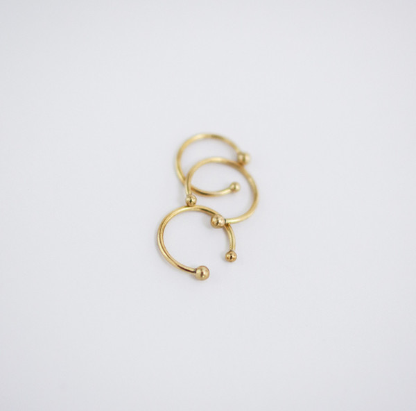 Another Feather Pearl Cuff Ring