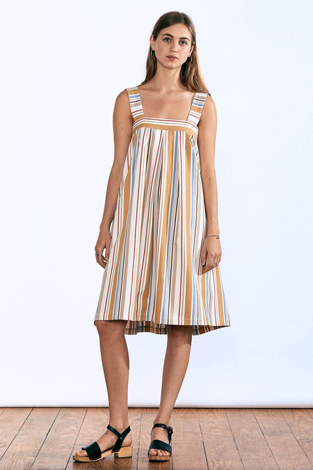 Liam of York Pleated Stripe Dress