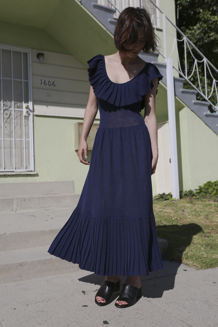 Hesperios Florence Dress in Eclipse Blue
