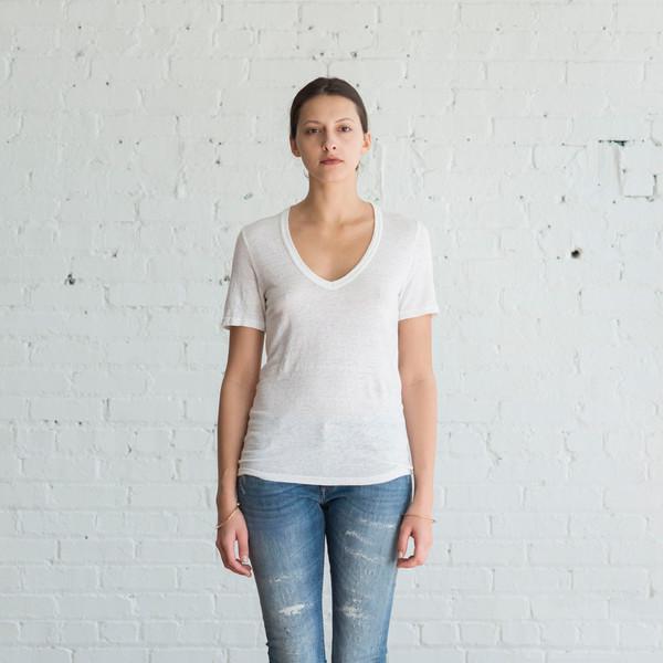 Isabel Marant Etoile Kranger V-Neck White $145