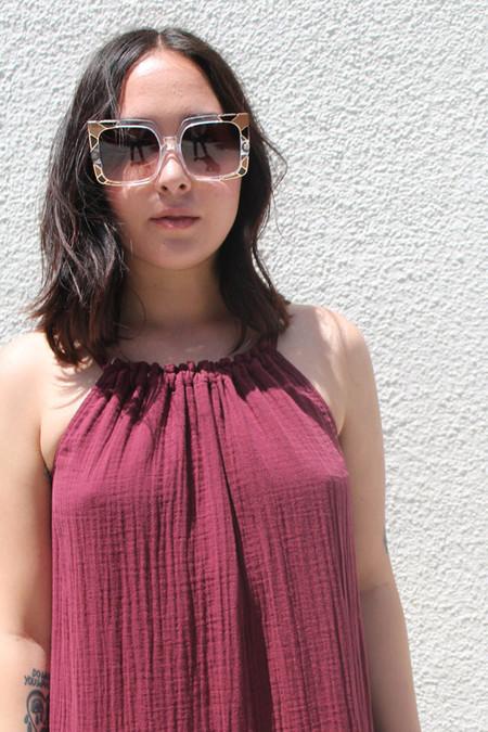 Pared Eyewear Pared Sun & Shade Sunglasses in Clear/Tan