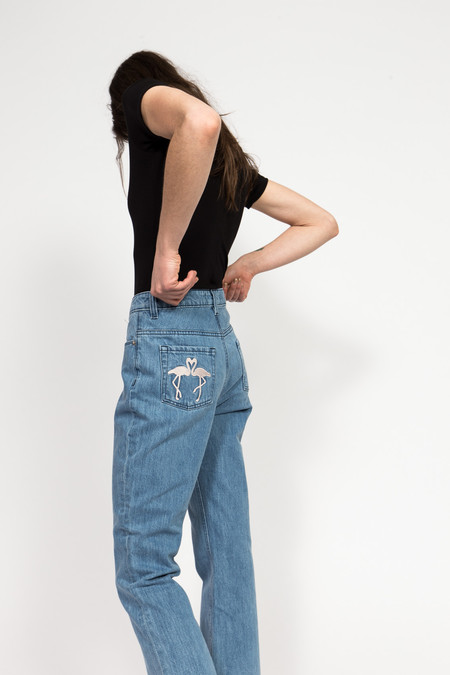 être cécile High Waist Crop Jean