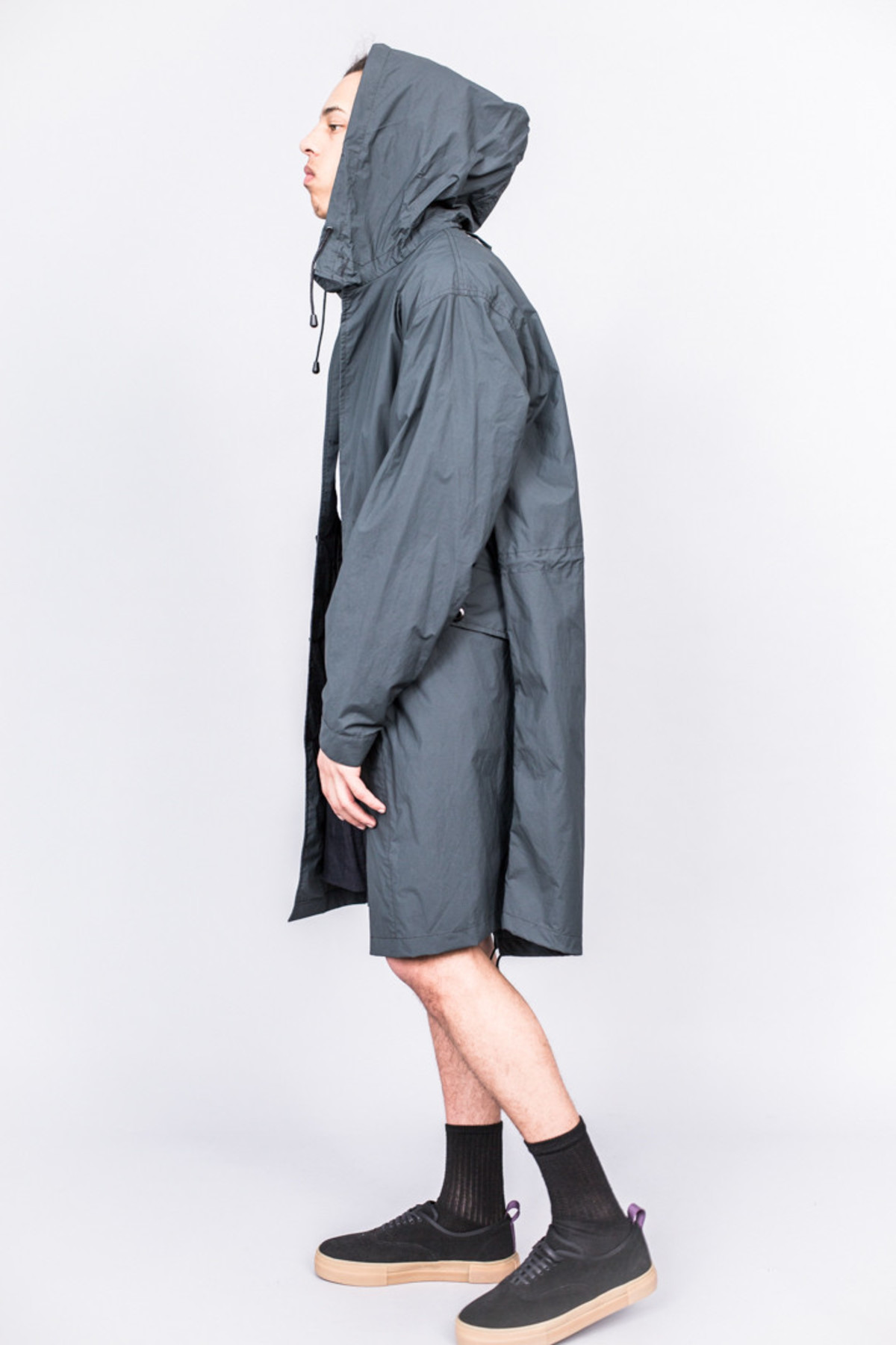 MHL Fishtail Parka Superlight Proofed Cotton Charcoal | Garmentory