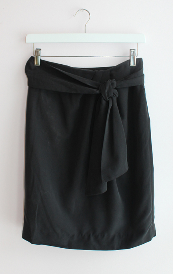 Eryn Brinie Black Tie Skirt