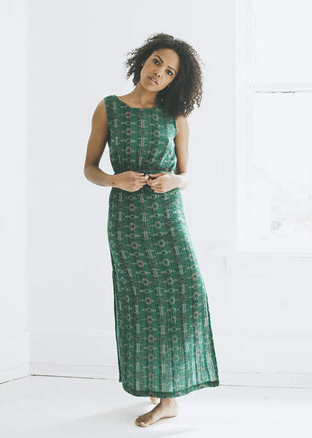 Ace & Jig Slipper Dress in Emerald Sky