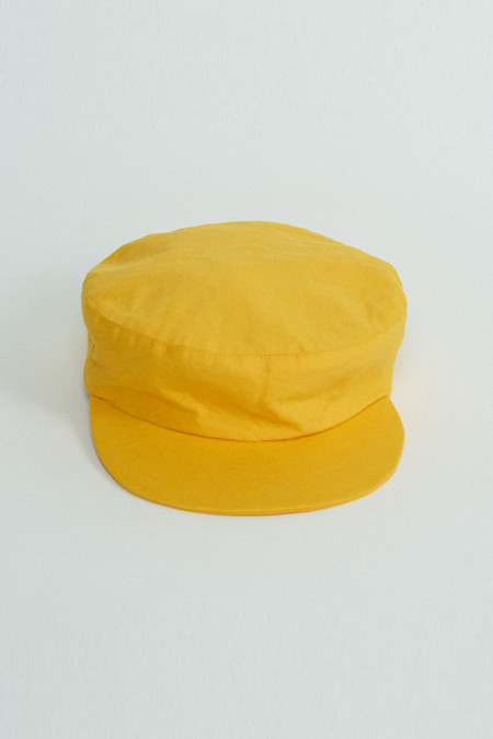 Clyde Linen Acton Hat - yellow