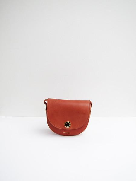 Mansur Gavriel Mini Saddle Bag - Brandy